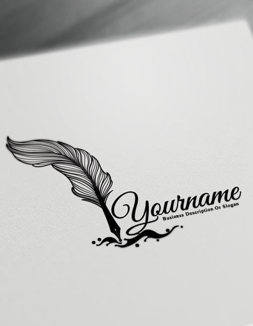 Fountain Pen Logo tattoo Design