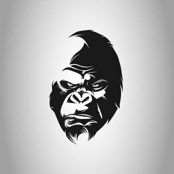 Gorila Logo Preto Branco