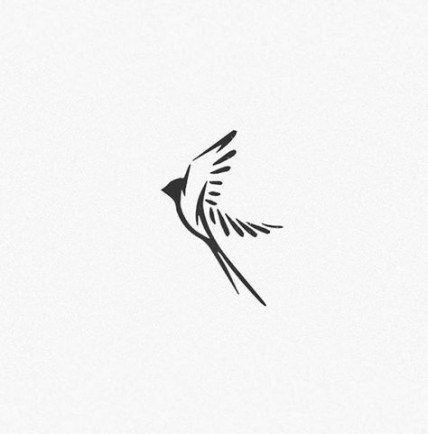 Idéias de tatuagens na moda Swallow Bird Logo